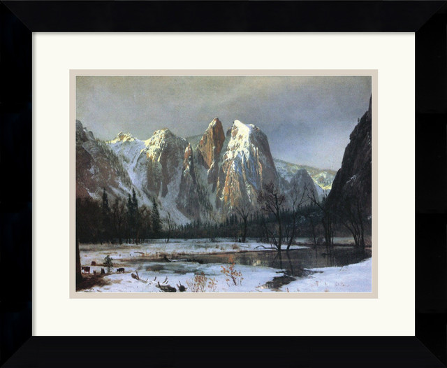 Cathedral Rock Yosemite Framed Print by Albert Bierstadt traditional-prints-and-posters