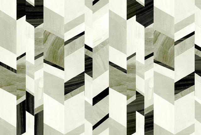 Abstract Chevron Design, Stone Grey