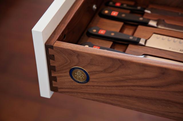 New England Design Works Showroom transitional-kitchen-drawer-organizers