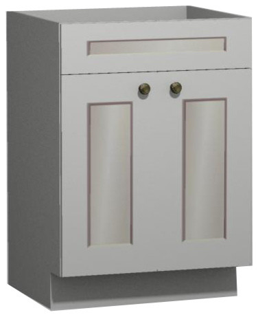 white shaker 24 inch vanity from us cabinet depot traditional bathroom