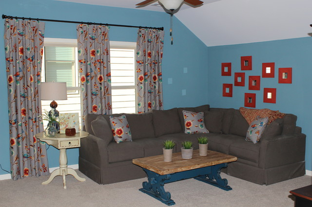Rockford Commons Model Home eclectic-living-room