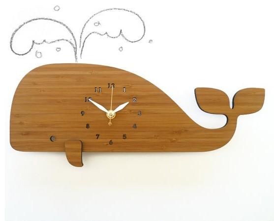 Decoylab Modern Animal Whale Clock - Modern - Kids Clocks - portland - by fawn&forest
