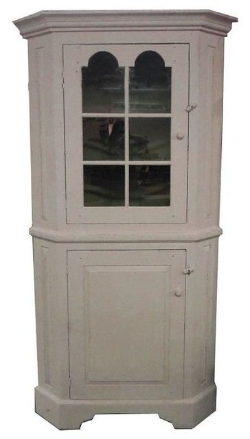 Pre-owned Vintage Painted Benchmade Corner Cabinet ...