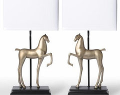 Barbara Cosgrove Lamps Two Horses Table Lamps eclectic-table-lamps