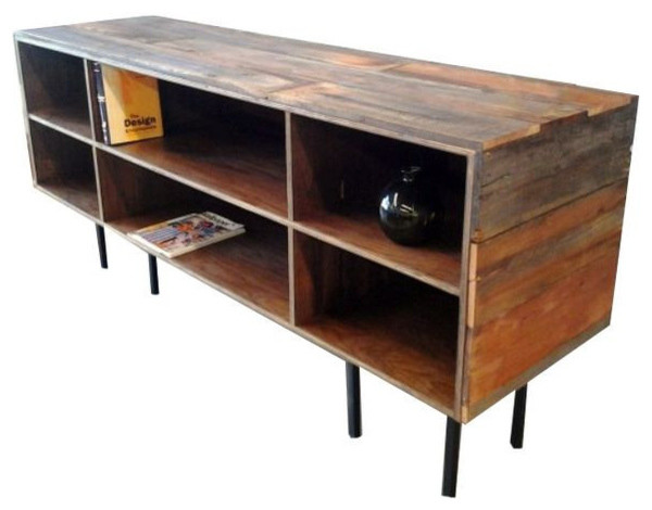 SOLD OUT!Redwood & Walnut Reclaimed Wood Media Cabinet ...