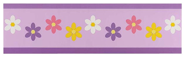 Daisies Wall Paper Border by Sweet Jojo Designs traditional-kids-decor