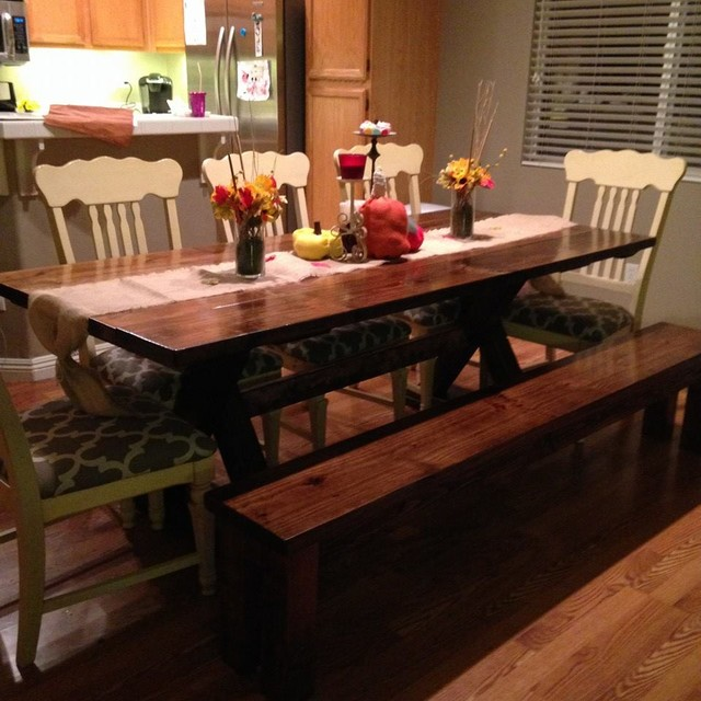 7ft trestle dining table transitional dining tables for 7ft dining room table
