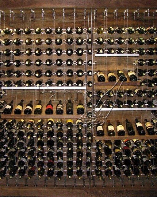 Cable Wine System Wine Cellars by Papro Consulting modern-wine-cellar