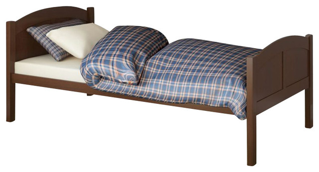 Sonax CorLiving Concordia Solid Wood Platform Bed in Espresso Brown-Full Size transitional-beds
