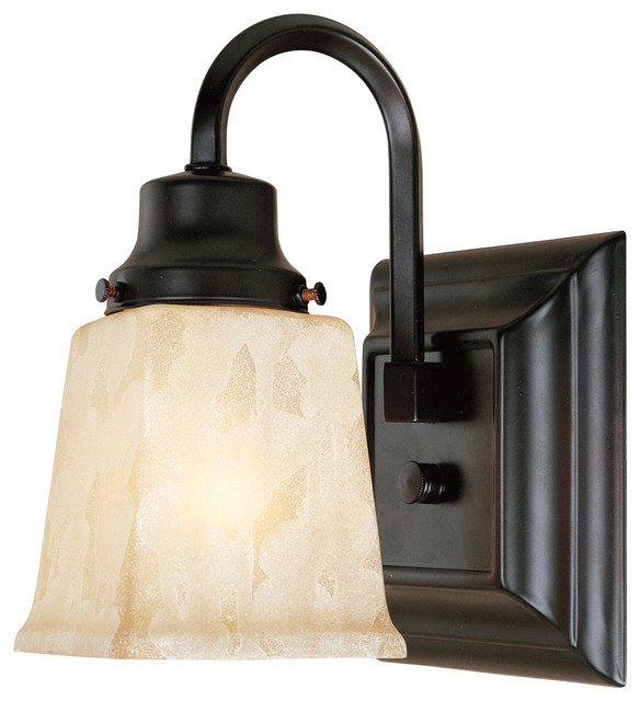 Belle Foret Model Bathgate Bath Collection - BF2603 1 Light Sconce  bathroom lighting and vanity lighting