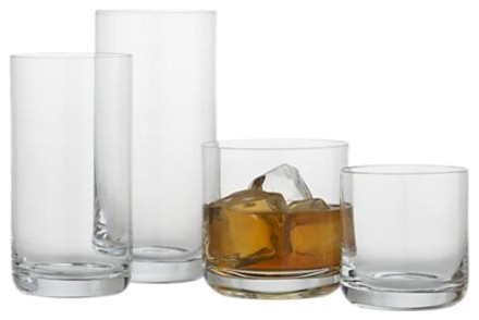Crescent Glasses traditional-everyday-glassware