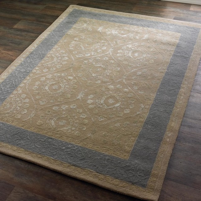 taupe and gray moroccan trellis border rug area rugs by shades of light