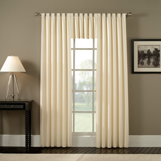 Ellis Curtain Fireside Tab Top Valance - Modern - Curtains - by ...