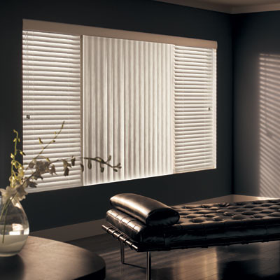 Graber vinyl s curve vertical blinds contemporary for Window coverings for large picture window
