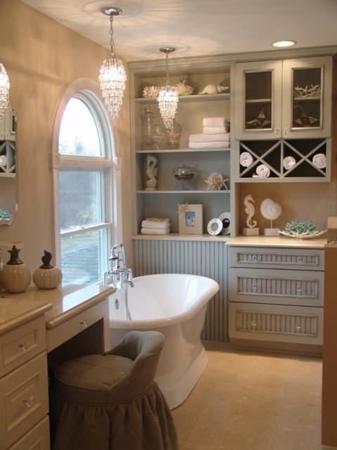 Coastal Chic Master Bath Shabby Chic Bathroom Orange County By Skd Studios