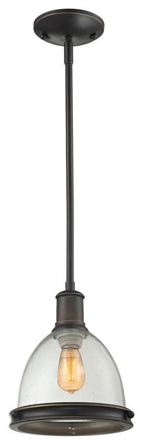 Z-Lite 717MP-OB Mason 1 Light Mini Pendants in Olde Bronze transitional-pendant-lighting