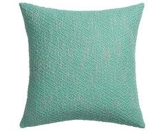"diamond weave aqua 18"" pillow pillows"