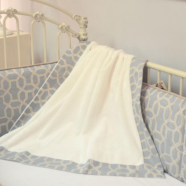 Doodlefish Peaceful Baby Blanket modern-baby-bedding
