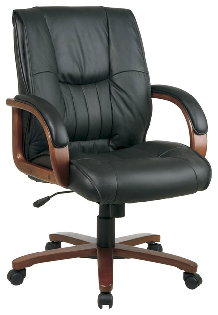 Mid Back Leather Office Chair modern-office-chairs