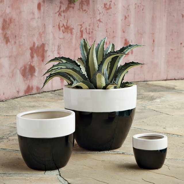 Claude Planters, White contemporary indoor pots and planters