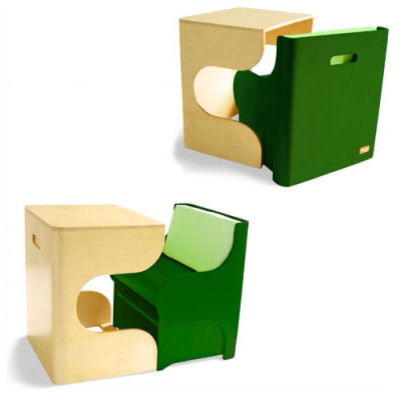 P Kolino Table And Chairs kolino Klick Desk and Cube Chair in Green modern-kids-desks-and-desk ...