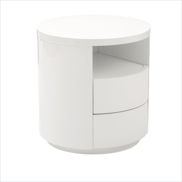 Eurostyle rami side table in white modern side tables for White end table