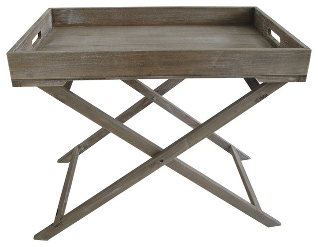 Industrial Tray Table Farmhouse Side Tables And End