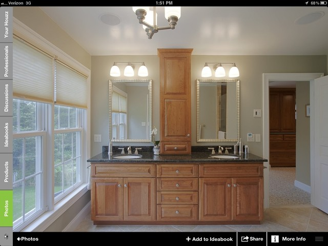 cabinet in between sinks for master bath color of cabinets
