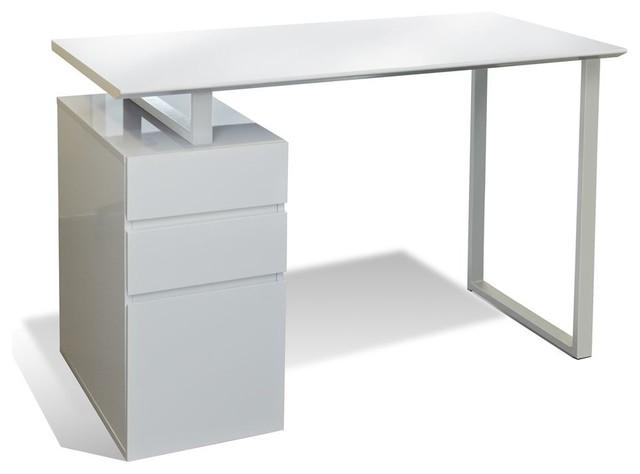 study desk w drawers white modern desks by edgewood ave