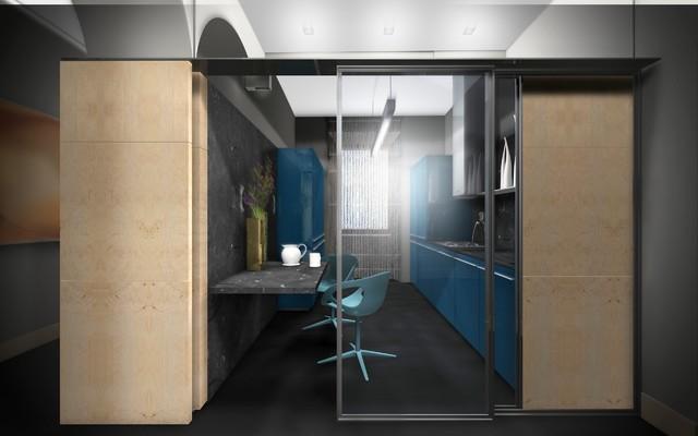 Private Flat - Refurbishment in an historic building contemporary-rendering