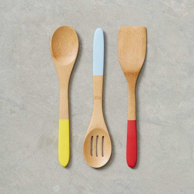 Bamboo kitchen utensils contemporary cooking utensils for Modern kitchen utensil