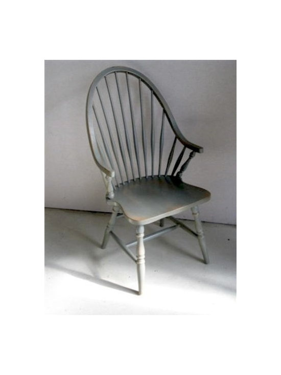 American Windsor Chair with Rub Through Finish - Made by http://www.ecustomfinishes.com