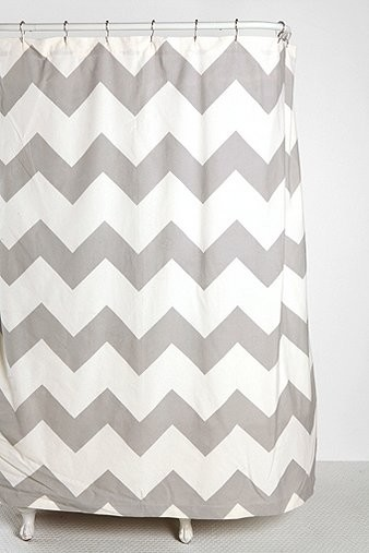 Zigzag Shower Curtain Gray Contemporary Shower Curtains By Urban Outfitters