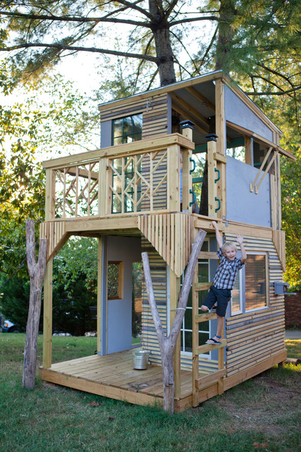 Mod tree house modern kids nashville by bjon pankratz for Modern tree house designs