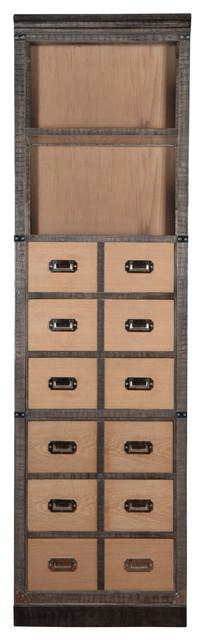 Montesson Bookcase, Crock and Oak Finish transitional-bookcases