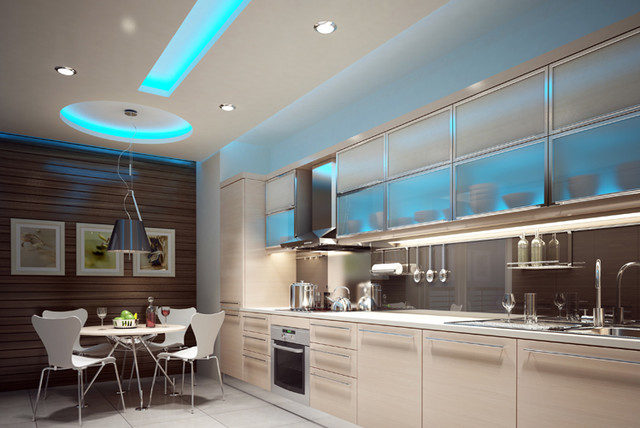 Led Strip And Rope Lights Contemporary Ceiling