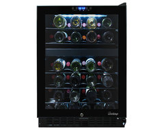 Vinotemp - 46-Bottle Dual-Zone Wine Cooler (Opens to the right) modern-beer-and-wine-refrigerators