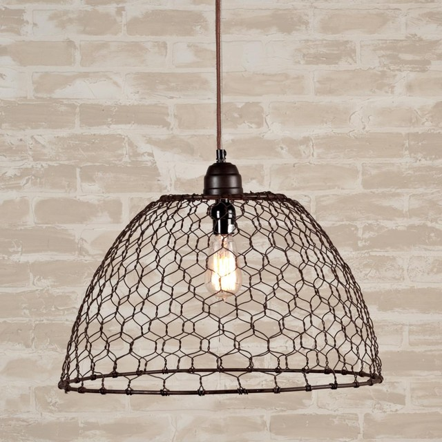 Chicken Wire Basket Pendant Light Pendant Lighting By