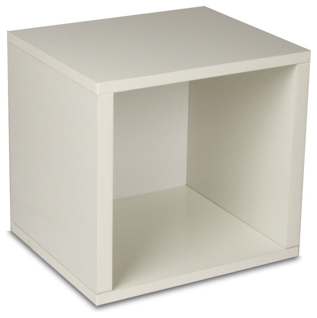 Way Basics Eco Stackable Storage Cube, White - Modern - by Way Basics