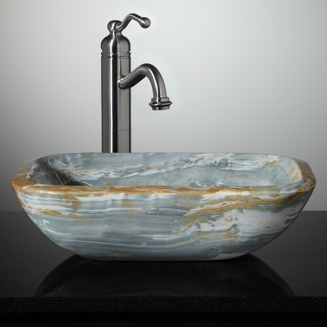 Marble Sinks Bathroom : New Stone Vessel Sinks - Bathroom Sinks - cincinnati - by Signature ...