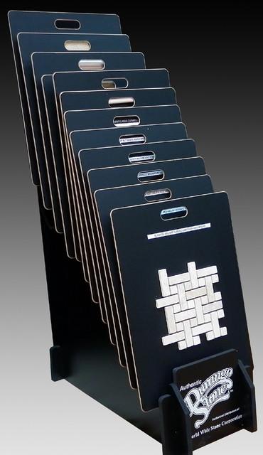 Authentic Durango Stone™ Mosaic Sample Display Rack - Modern - phoenix - by Authentic Durango Stone™