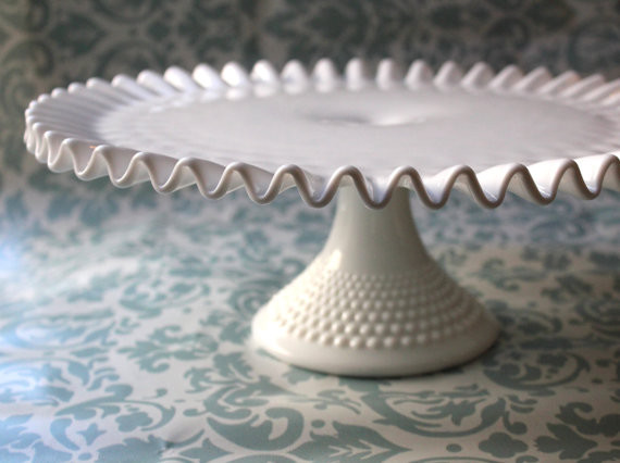 Milk Glass Cake Stand by The Roche Studio traditional-dessert-and-cake-stands