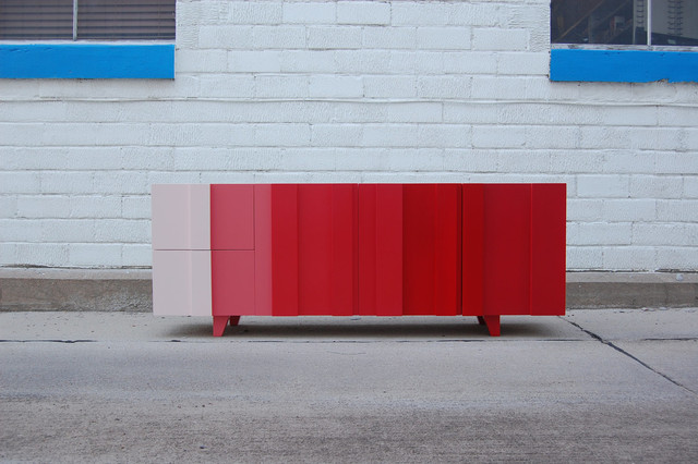 Sailor's Delight Ombré Console by Curtis Furniture modern-side-tables-and-end-tables