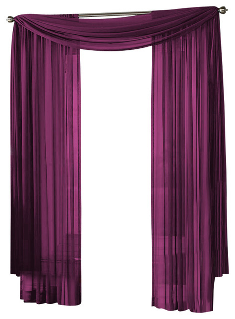 hlc me sheer curtain window purple scarf traditional