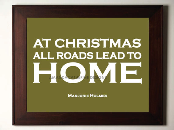 Green Christmas Home Print Poster by Amanda Catherine Designs modern-holiday-decorations