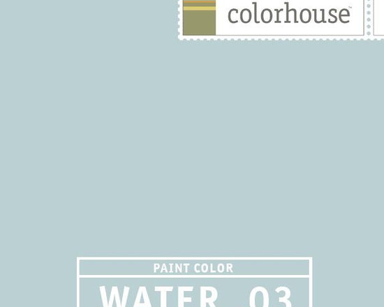 Colorhouse WATER .03 - Colorhouse WATER .03: This is as cool as our WATER hues get, paired up with rich warm anchor colors, WATER .03 can offer a twist on an old favorite. This is a good color for bedrooms, bathrooms and beach house gathering spots.