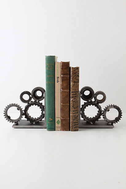 Industrial Gear Bookends eclectic-bookends