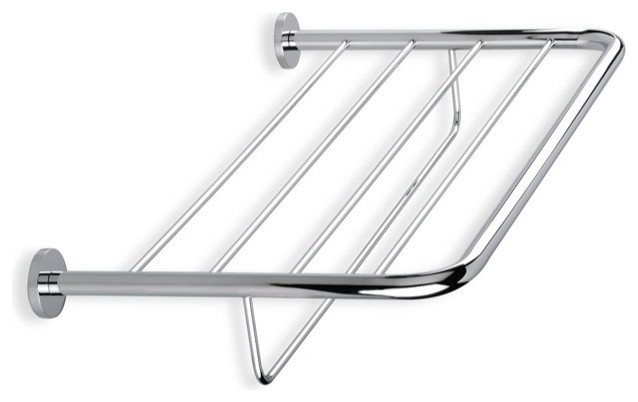 Wall Mounted Chrome Towel Rack contemporary-towel-racks-and-stands