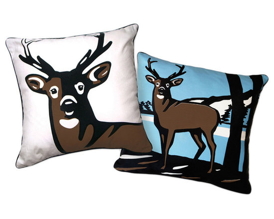 Naked Decor Oh Deer Reversible Pillow