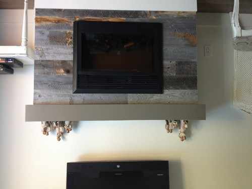 What color do we paint the wall behind this fireplace Fireplace feature wall colour
